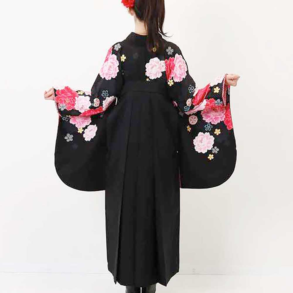 【h】|送料無料|卒業式レンタル袴フルセット-953