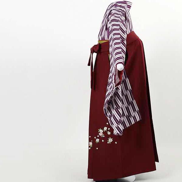 |送料無料|【レンタル】 小学生用卒業式レンタル袴フルセット-13002