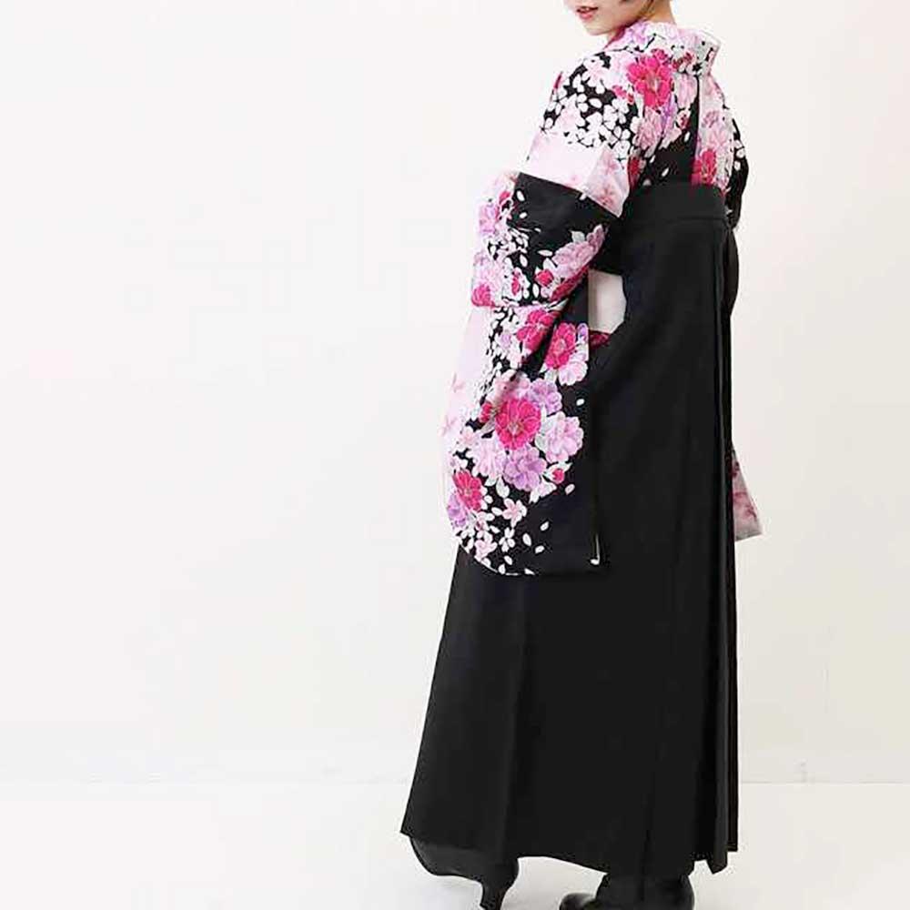 【h】 送料無料 卒業式レンタル袴フルセット-1366