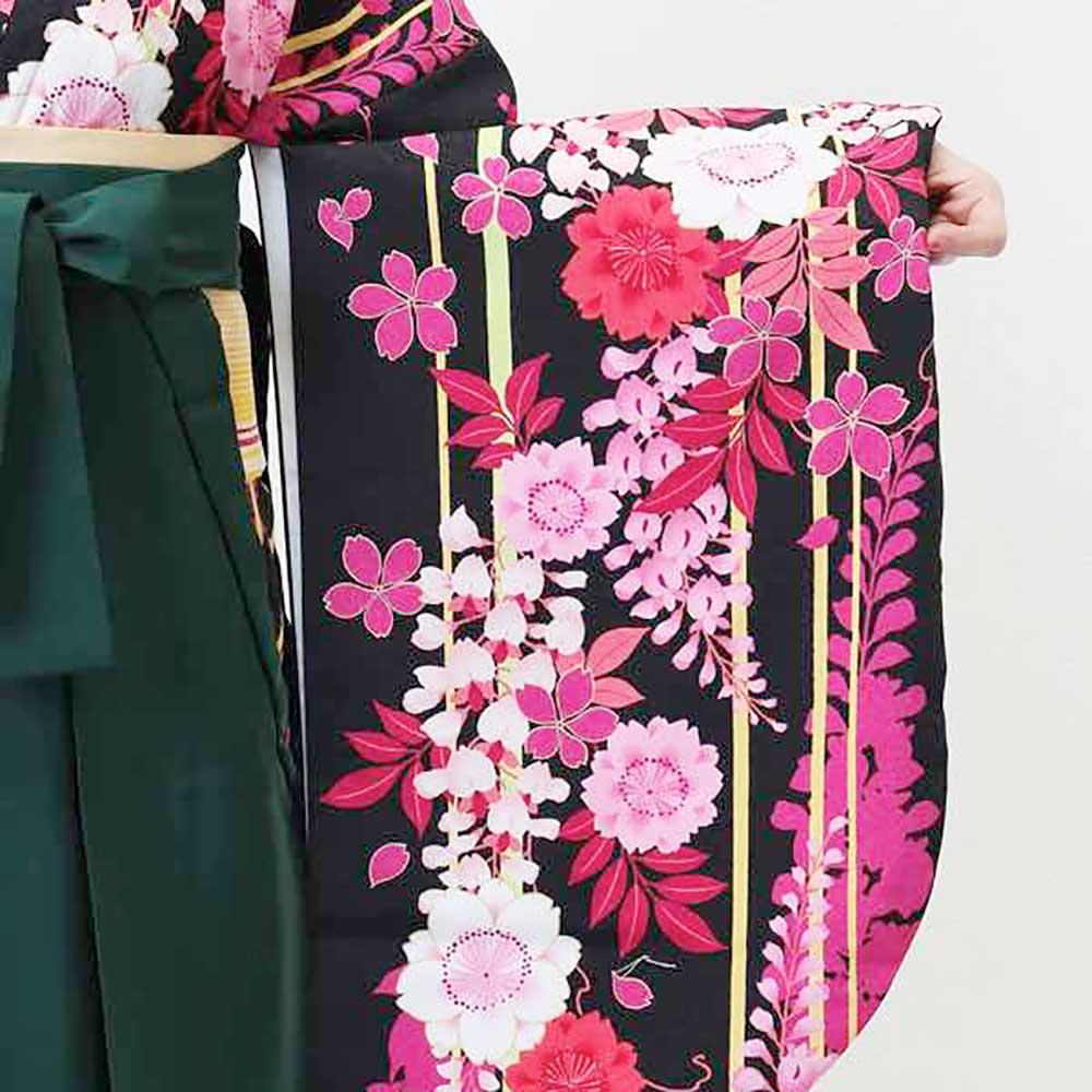 【h】|送料無料|卒業式レンタル袴フルセット-1367