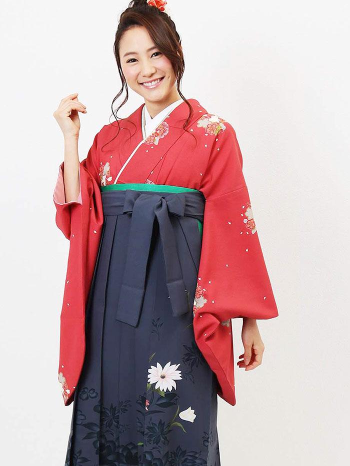 |送料無料|卒業式レンタル袴フルセット-597