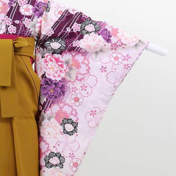 【レンタル】 小学生用卒業式レンタル袴フルセット-13006