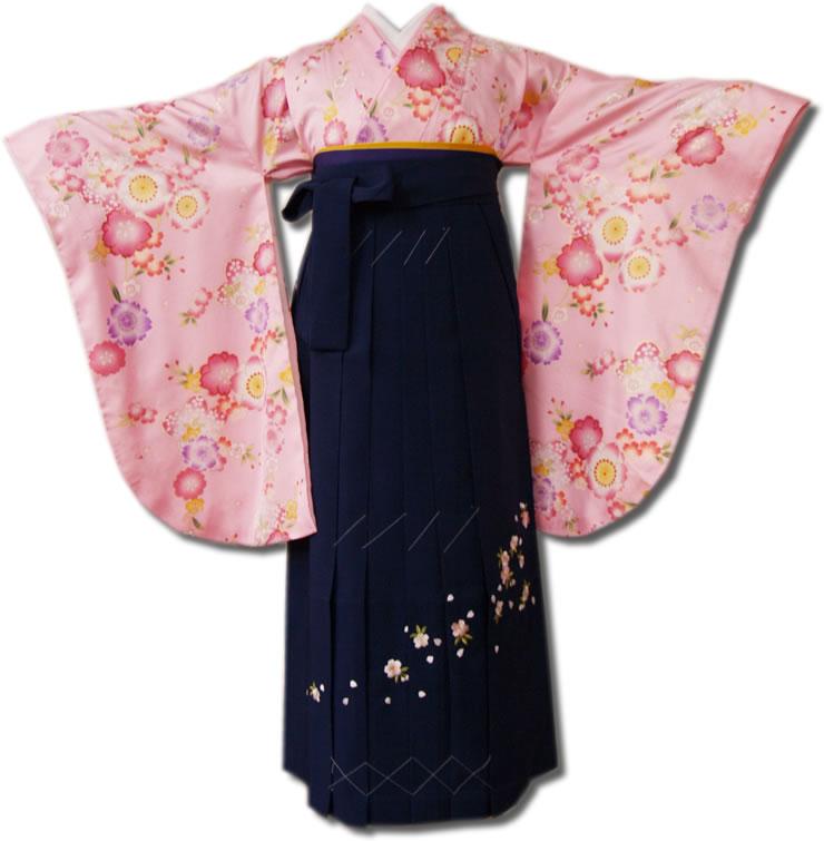  送料無料 卒業式レンタル袴フルセット-599