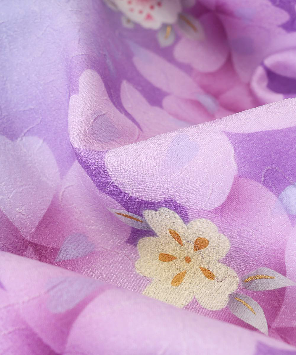 【h】|送料無料|【対応身長150cm〜157cm】【正統派】卒業式レンタル袴フルセット-741|マルチカラー|花柄|桜|紫|
