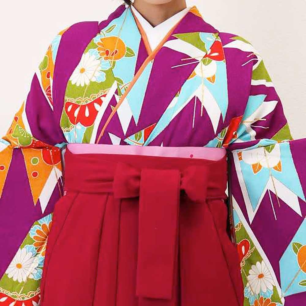【h】 送料無料 卒業式レンタル袴フルセット-1371