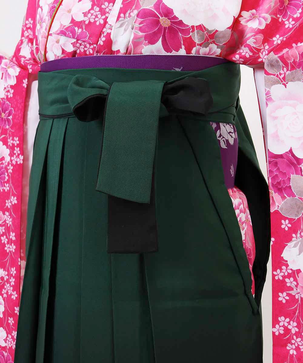 【h】|送料無料|【対応身長157cm〜165cm】【キュート】卒業式レンタル袴フルセット-1167|マルチカラー|花柄|牡丹|ピンク|緑|