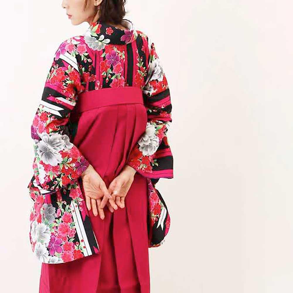 【h】|送料無料|卒業式レンタル袴フルセット-961