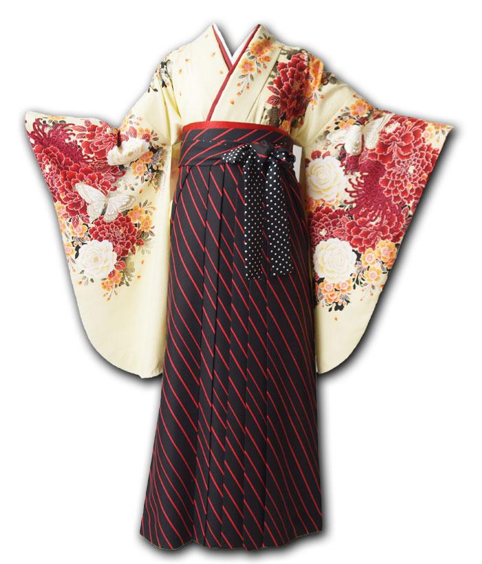 |送料無料|卒業式レンタル袴フルセット-1032