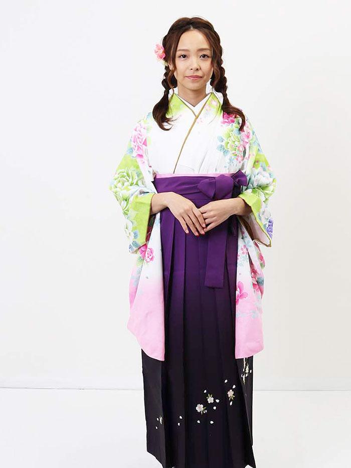 【h】|送料無料|卒業式レンタル袴フルセット-1168