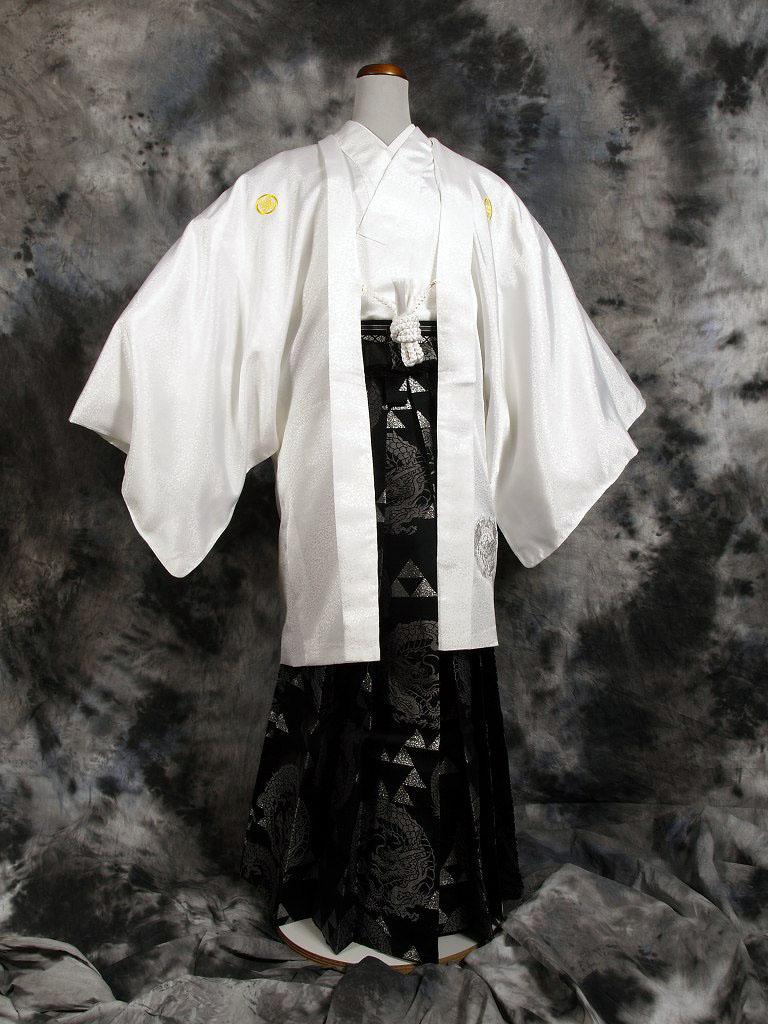 |送料無料|【成人式・卒業式】男性用レンタル紋付き袴フルセット-7057