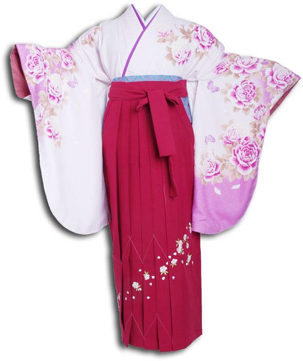 【h】|送料無料|卒業式レンタル袴フルセット-855