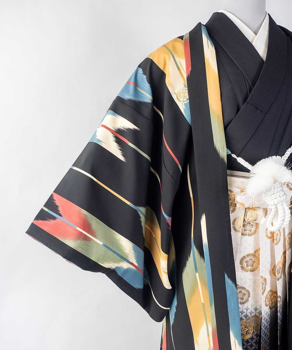 【レンタル】【成人式】安心の最大1ヶ月レンタル可能 男性用レンタル紋付き袴フルセット-7427