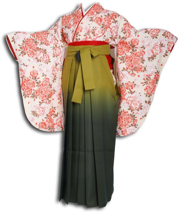 |送料無料|卒業式レンタル袴フルセット-856