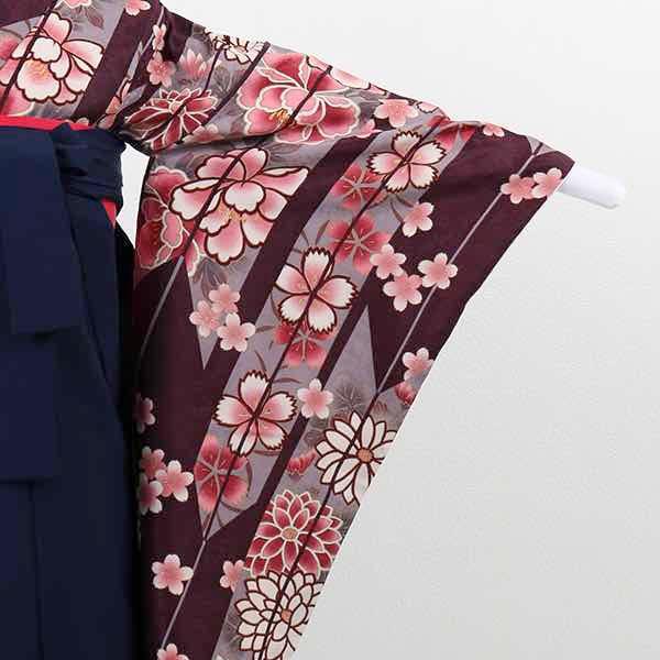 |送料無料|【レンタル】 小学生用卒業式レンタル袴フルセット-13012