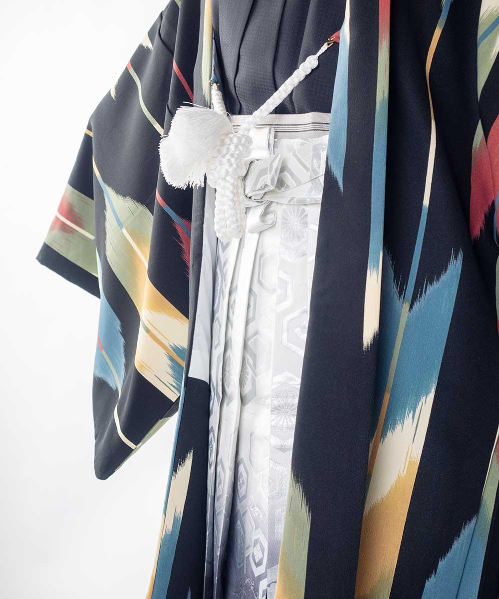 【レンタル】【成人式】安心の最大1ヶ月レンタル可能 男性用レンタル紋付き袴フルセット-7428