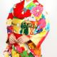 【成人式】 [安心の長期間レンタル]【対応身長155cm〜170cm】【合繊】レンタル振袖フルセット-733|レトロ|牡丹|豪華系|古典系|赤系|菊