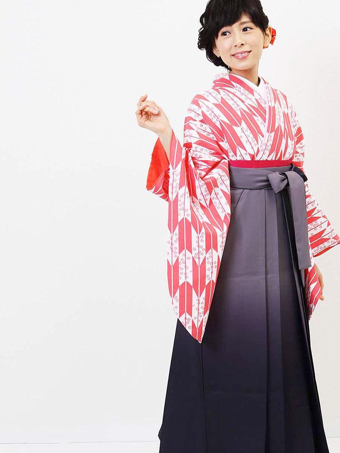 【h】|送料無料|卒業式レンタル袴フルセット-1279