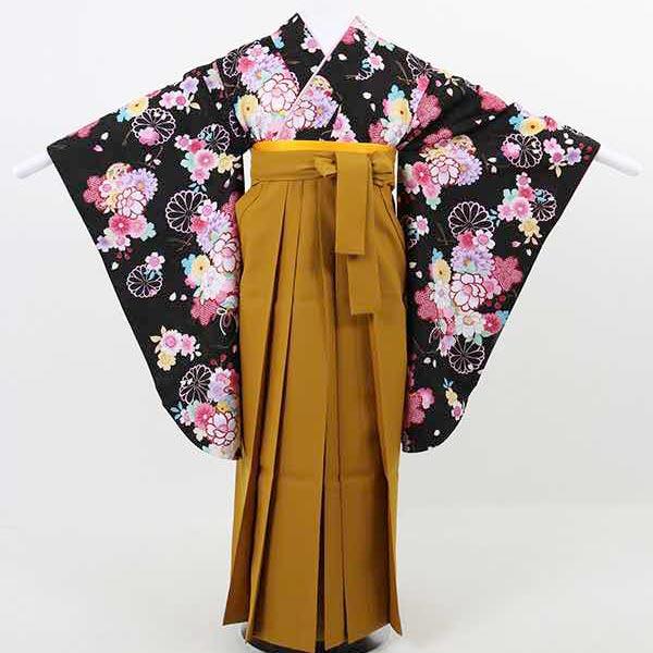 |送料無料|【レンタル】 小学生用卒業式レンタル袴フルセット-13015