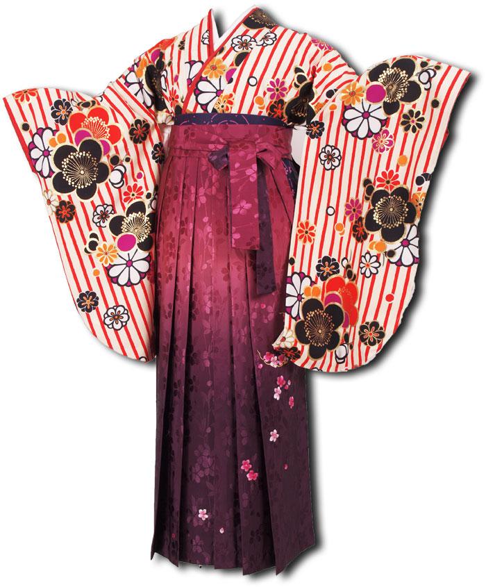  送料無料 卒業式レンタル袴フルセット-1176