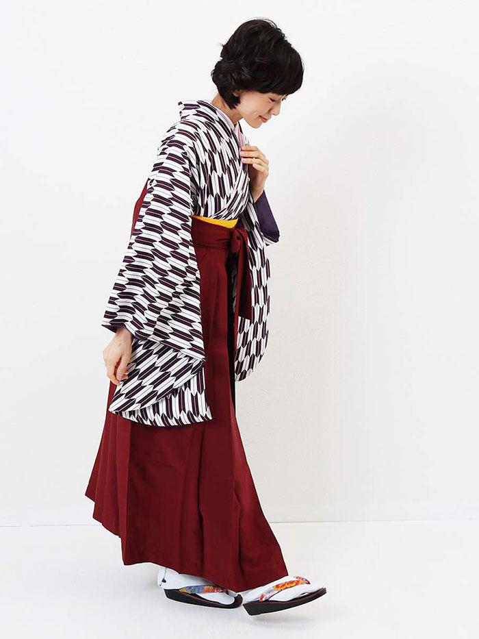 【h】|送料無料|卒業式レンタル袴フルセット-1280
