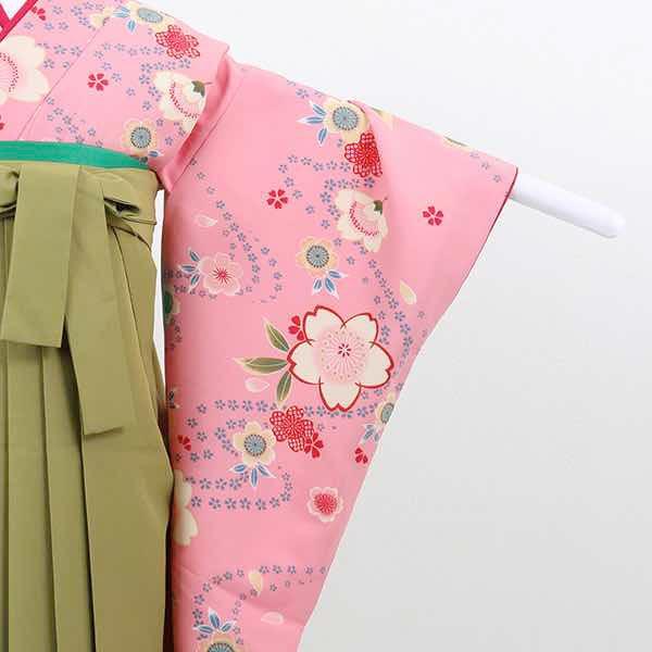 |送料無料|【レンタル】 小学生用卒業式レンタル袴フルセット-13016