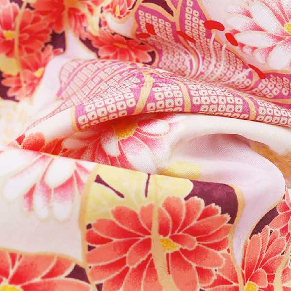  送料無料 【レンタル】【成人式】 [安心の長期間レンタル]【対応身長155cm〜170cm】レンタル振袖フルセット-934 花柄 レトロ ポップキ