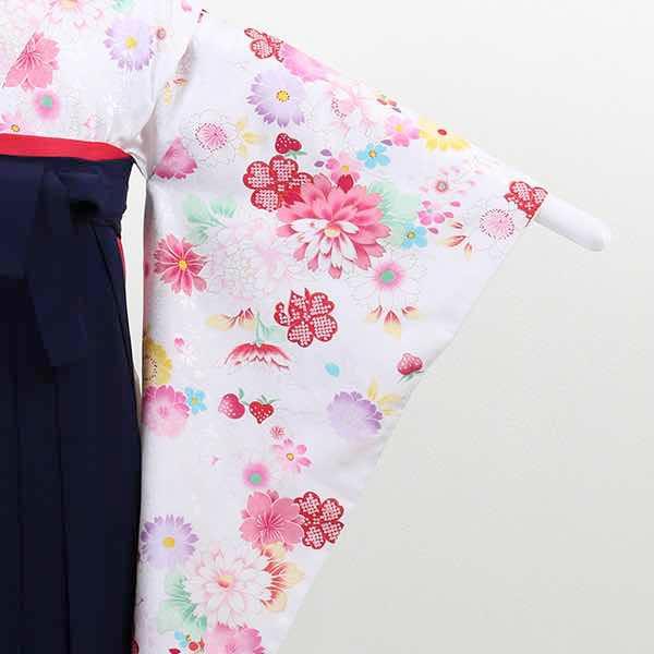 |送料無料|【レンタル】 小学生用卒業式レンタル袴フルセット-13017
