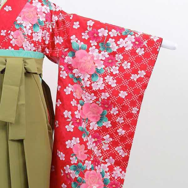 |送料無料|【レンタル】 小学生用卒業式レンタル袴フルセット-13018