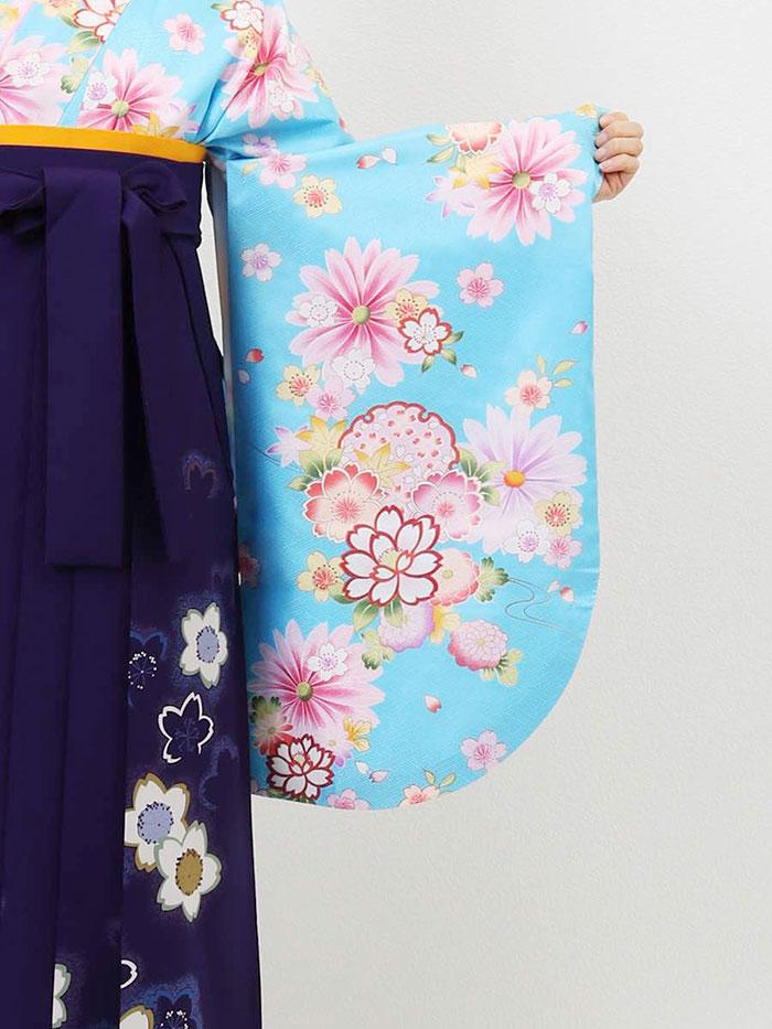 |送料無料|卒業式レンタル袴フルセット-612