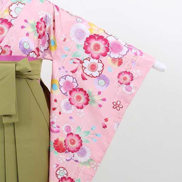 |送料無料|【レンタル】 小学生用卒業式レンタル袴フルセット-13019