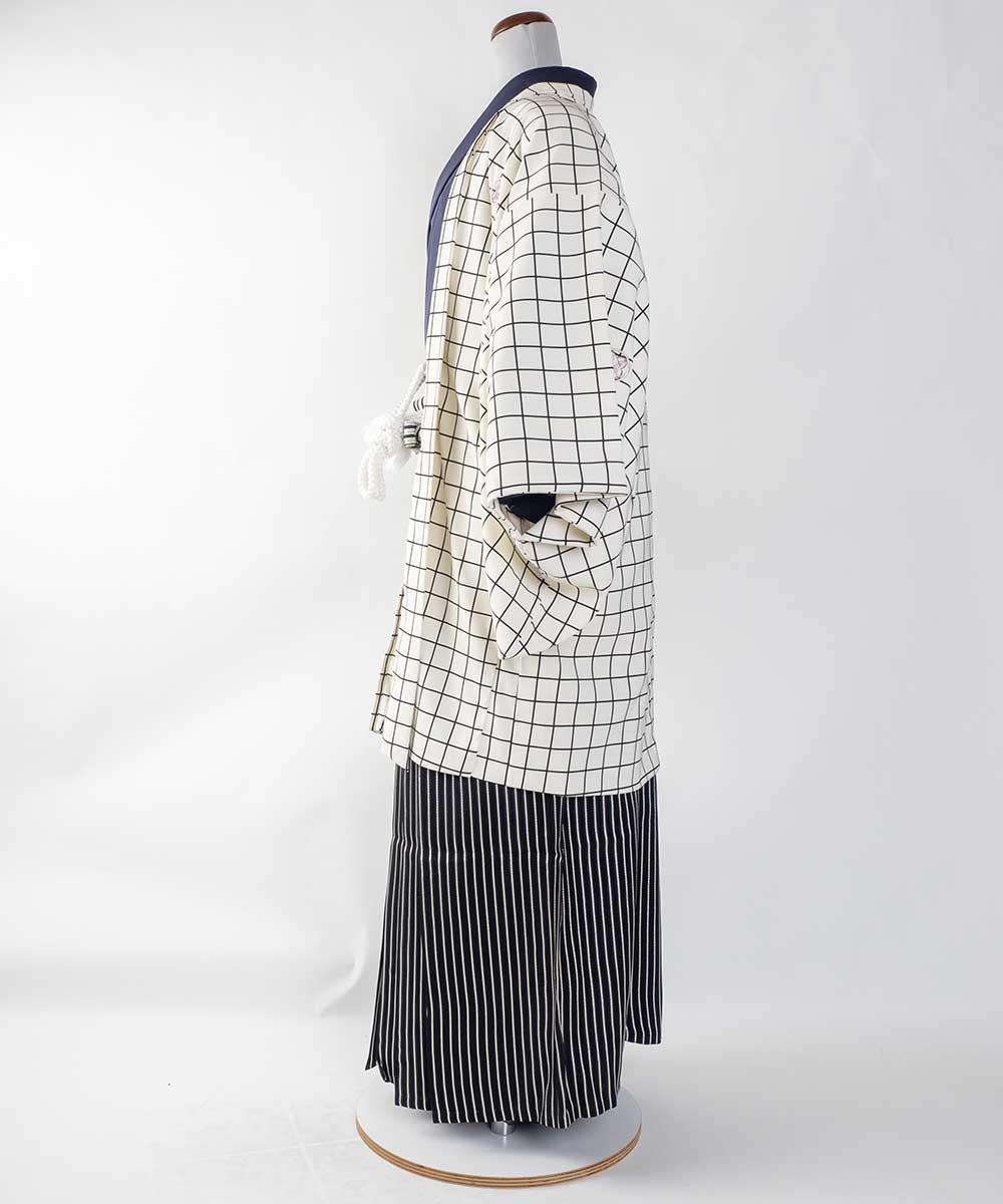 【レンタル】【成人式】安心の最大1ヶ月レンタル可能 男性用レンタル紋付き袴フルセット-7436