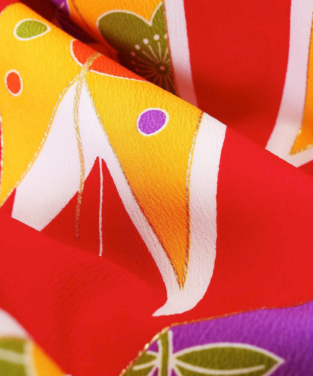 |送料無料|【対応身長157cm〜165cm】【レトロ】卒業式レンタル袴フルセット-1043|マルチカラー|花柄|矢絣|赤|紫|