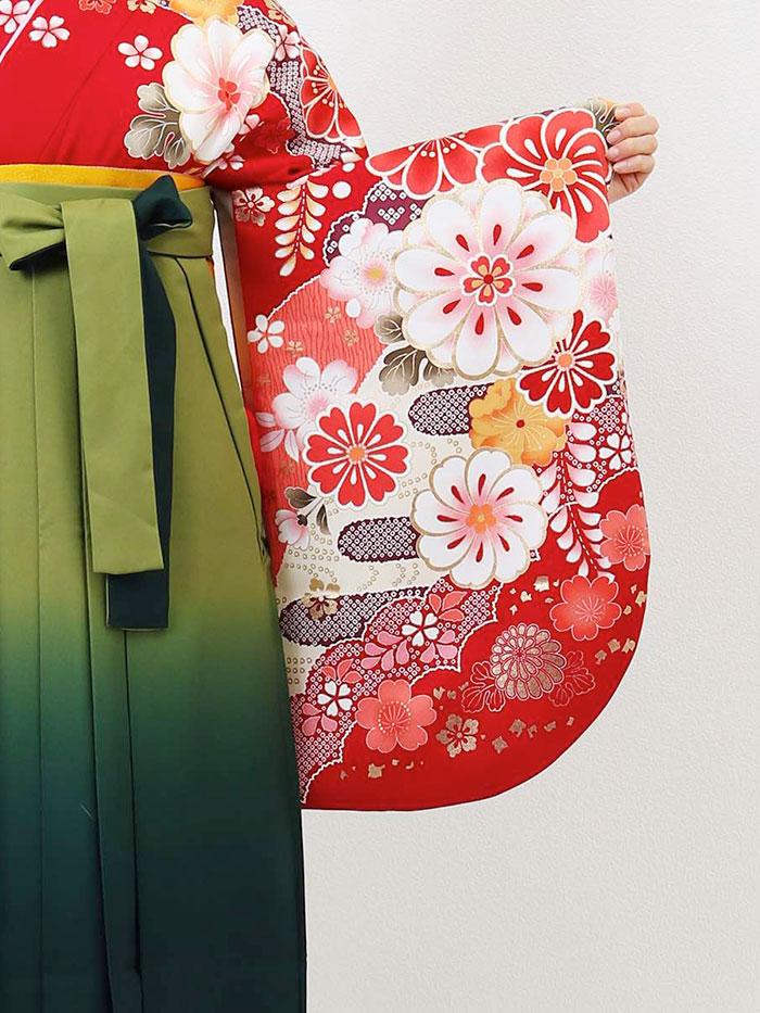 |送料無料|卒業式レンタル袴フルセット-1285