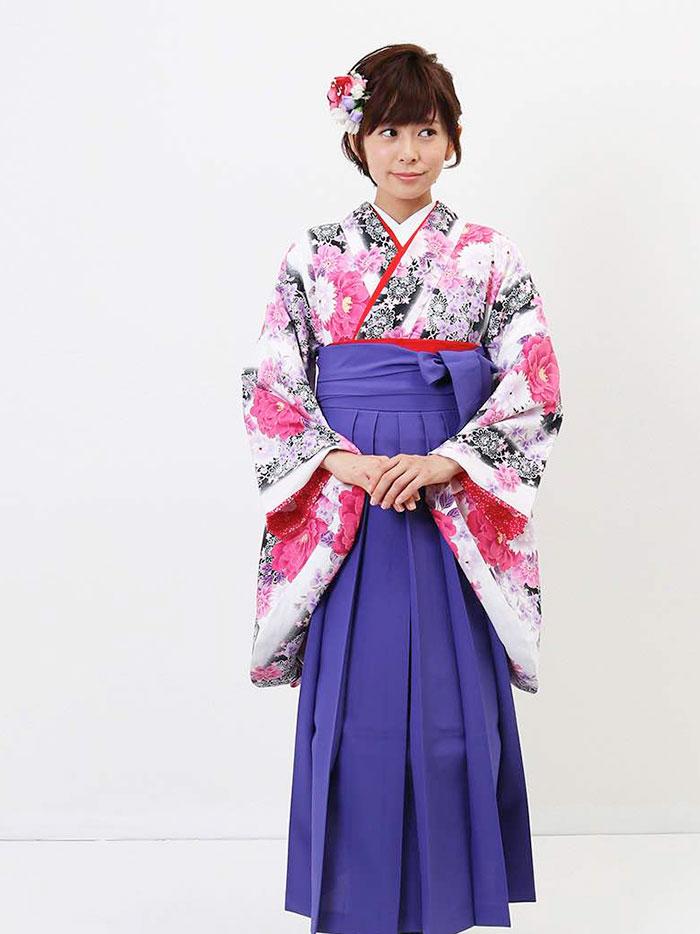 |送料無料|卒業式レンタル袴フルセット-973