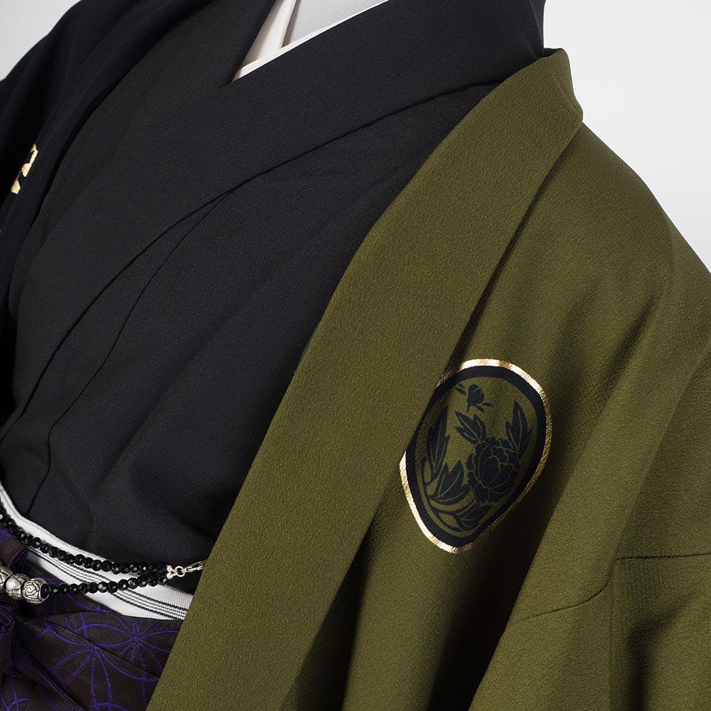 |送料無料|【レンタル】【成人式】安心の最大1ヶ月レンタル可能 男性用レンタル紋付き袴フルセット-7303