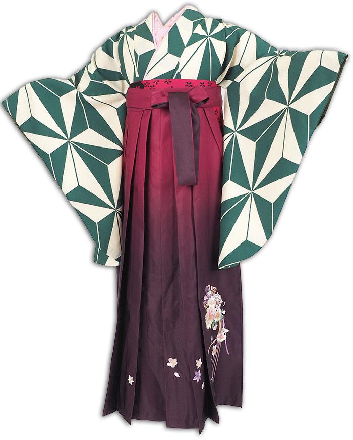 |送料無料|卒業式レンタル袴フルセット-1287