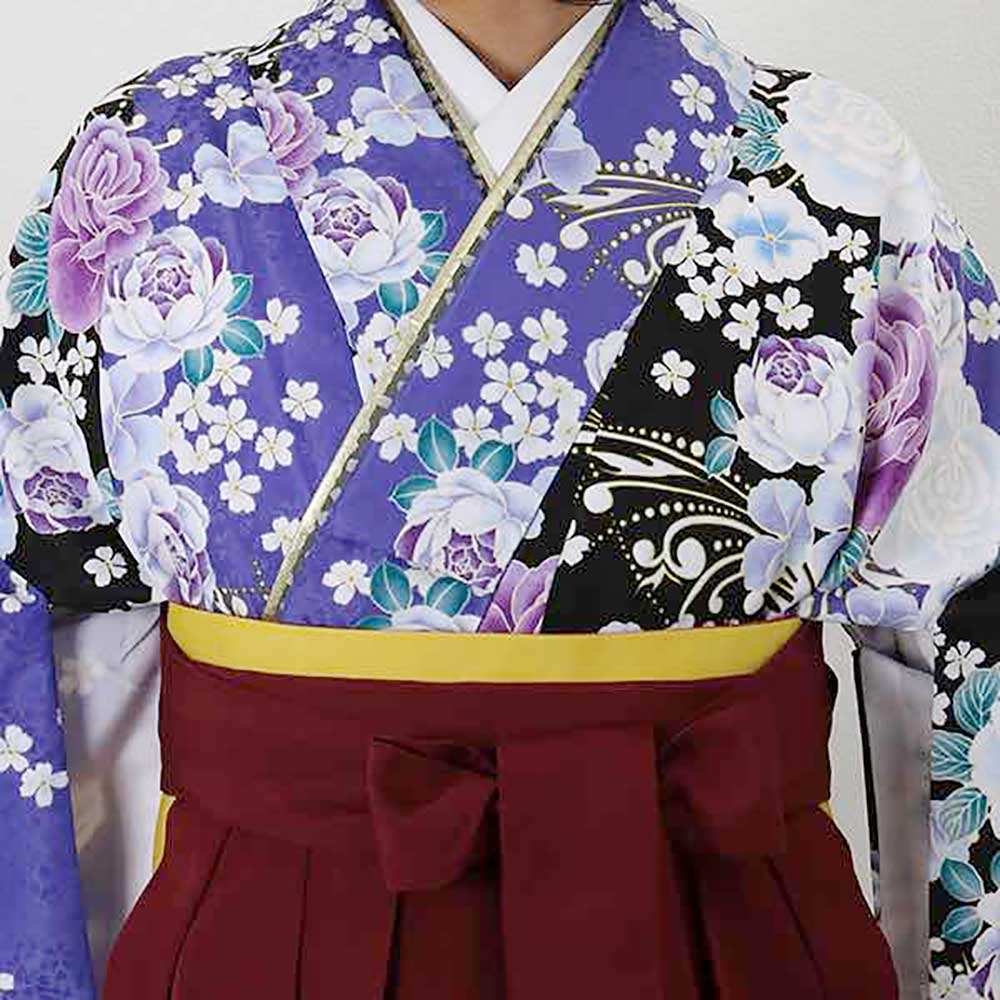 【h】|送料無料|卒業式レンタル袴フルセット-1403