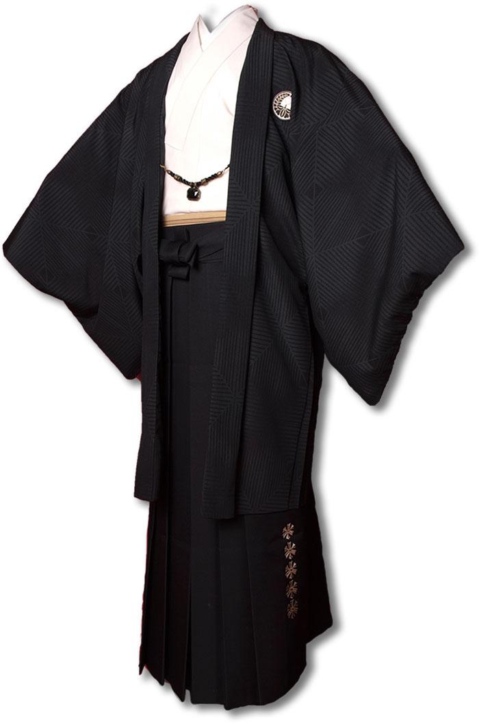 |送料無料|【成人式・卒業式】【成人式・卒業式】男性用レンタル紋付き袴フルセット-7231