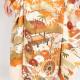 【成人式】 [安心の長期間レンタル]【対応身長155cm〜170cm】【正絹】レンタル振袖フルセット-432 正統派 花柄 古典 モダン オレンジ ベ