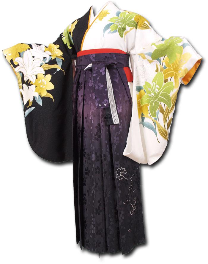 【h】 送料無料 卒業式レンタル袴フルセット-1184