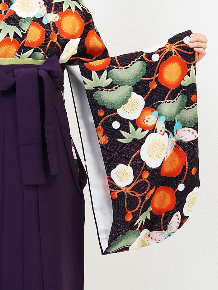 【h】 送料無料 卒業式レンタル袴フルセット-1288