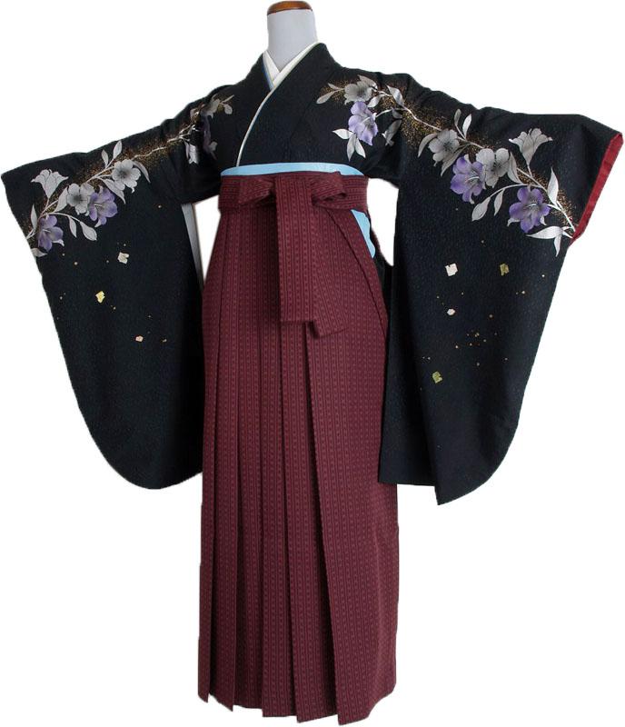  送料無料 卒業式レンタル袴フルセット-759