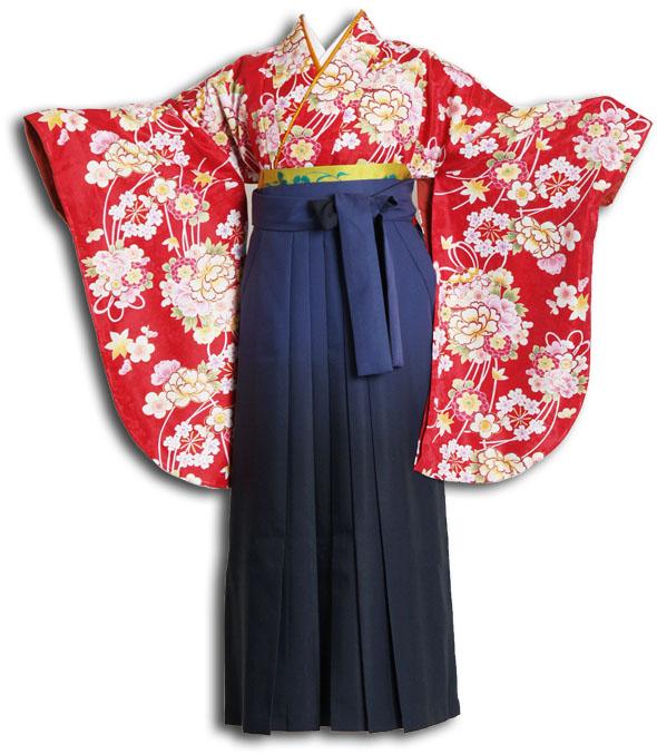 |送料無料|卒業式レンタル袴フルセット-872