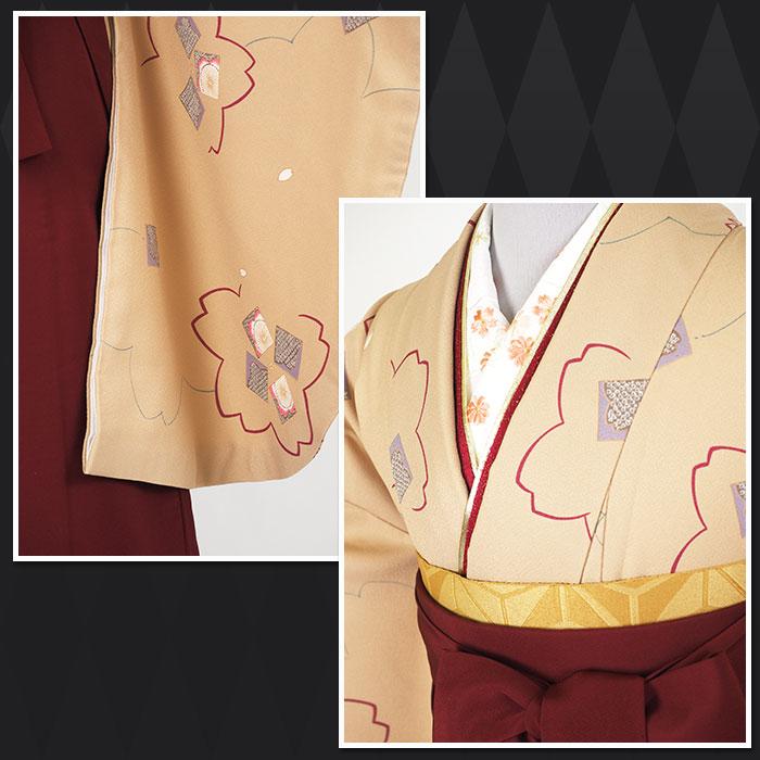【h】 送料無料 卒業式レンタル袴フルセット-1289