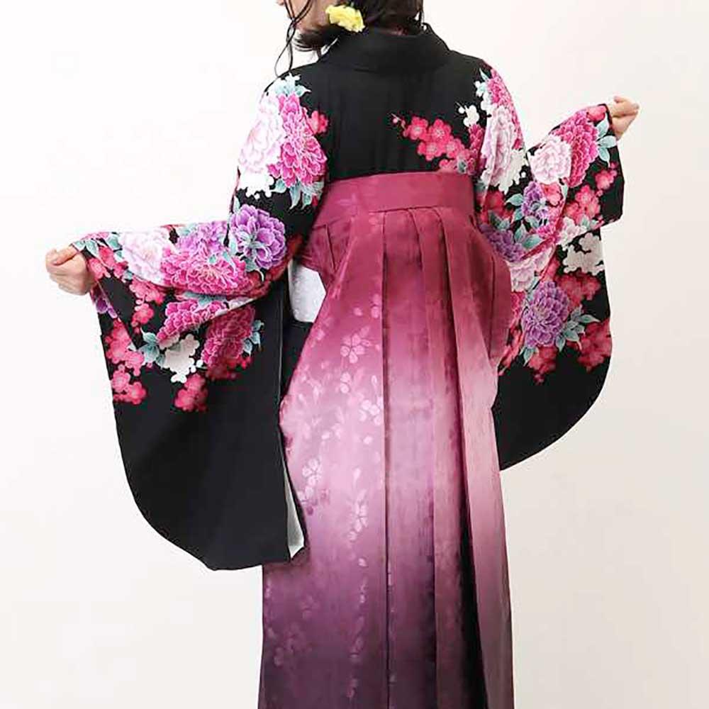 【h】|送料無料|卒業式レンタル袴フルセット-874