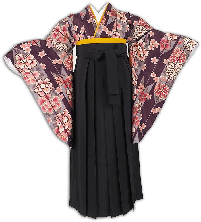 |送料無料|卒業式レンタル袴フルセット-1290