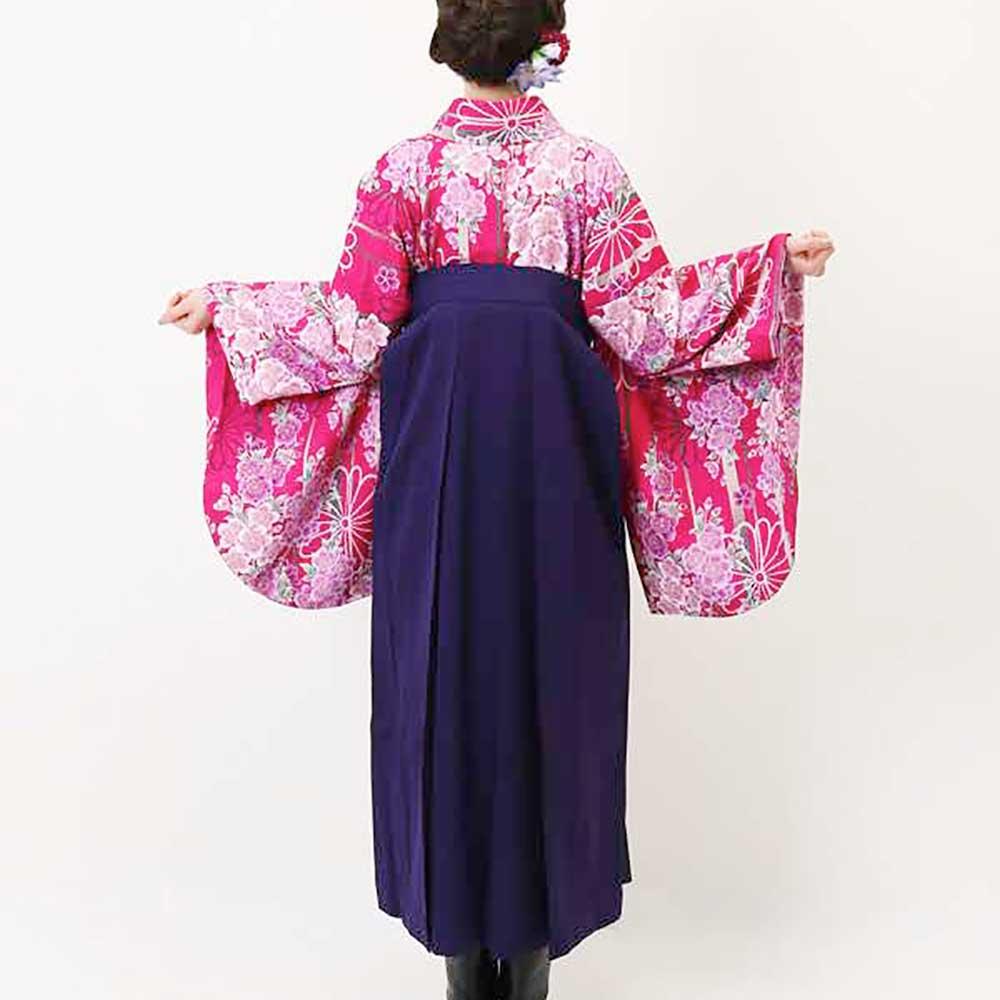 【h】 送料無料 卒業式レンタル袴フルセット-876
