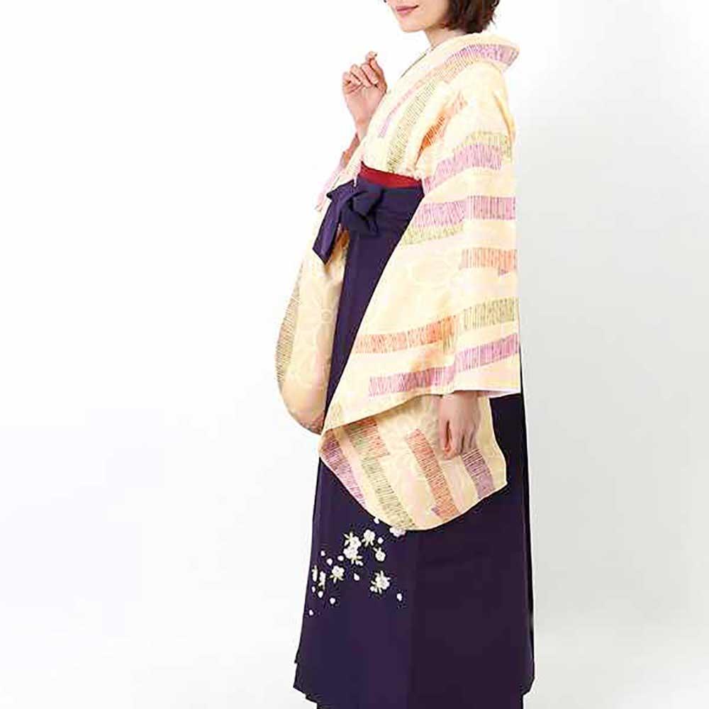 【h】|送料無料|卒業式レンタル袴フルセット-1407