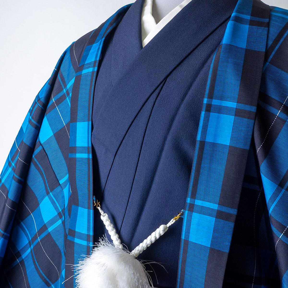  送料無料 【レンタル】【成人式】【対応身長170cm-180cm】男性用レンタル紋付き袴フルセット