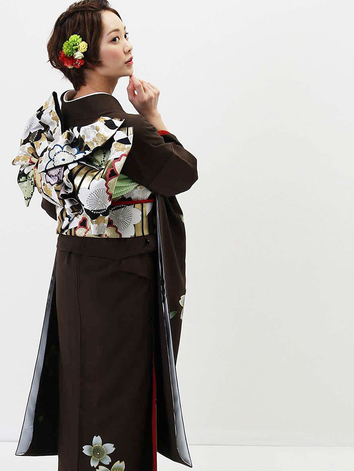 |送料無料|【レンタル】【成人式】 [安心の長期間レンタル]【対応身長155cm〜170cm】【正絹】レンタル振袖フルセット-436|花柄|モダン|